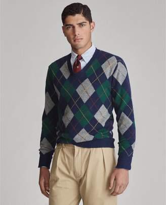 Ralph Lauren Argyle Wool-Cashmere Sweater