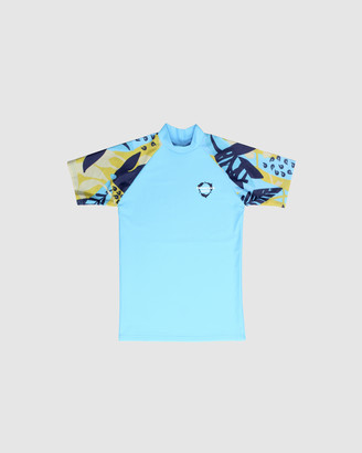 Conscious Swim Short Sleeve Logo Rashie - Boys