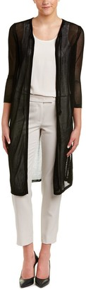 Anne Klein Women's Mesh Long Sleeve Duster Cardigan