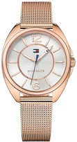 Tommy Hilfiger Rose Gold Mesh Bracelet Watch