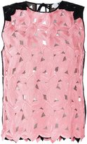 MSGM cut-out leaves tank top - women - Polyester - 38