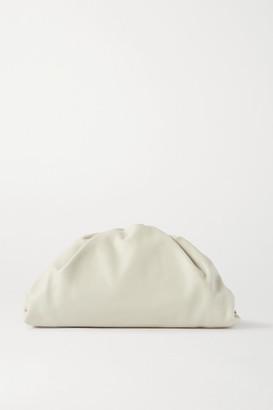 Bottega Veneta The Pouch Large Gathered Leather Clutch - Off-white