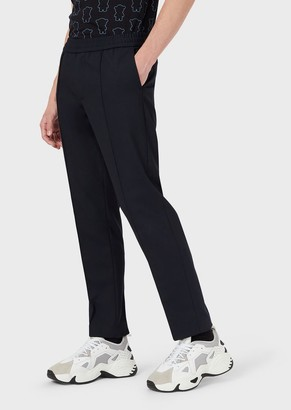 Emporio Armani Technical Wool Trousers