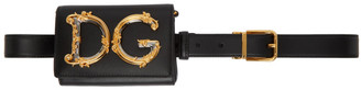 Dolce & Gabbana Black Leather Belt Bag