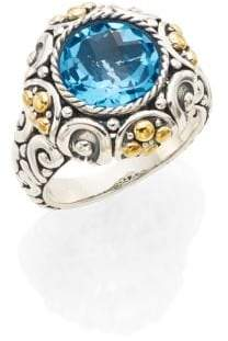 Effy Blue Topaz, Sterling Silver & 18K Yellow Gold Ring