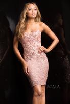 Scala 48702 Sweetheart Short Cocktail Dress
