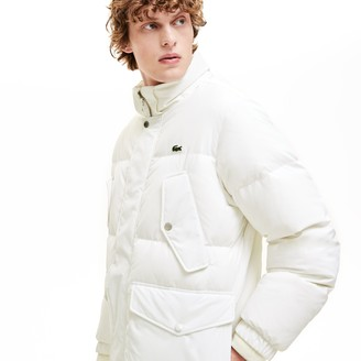 Lacoste Men's Detachable Hood Water-Resistant Quilted Jacket