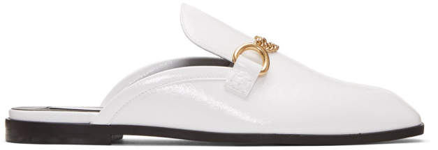 Stella McCartney White Chain Slip-On Loafers