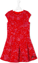 Kenzo metallic pattern dress - kids - Cotton/Spandex/Elastane - 16 yrs