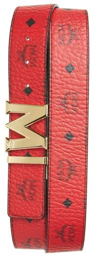 MCM Reversible Signature Leather Belt
