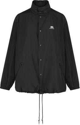 Balenciaga Black logo shell jacket