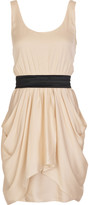 Alice + Olivia Georgette draped mini dress