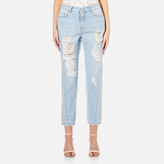 Versace Women's Distressed Jeans