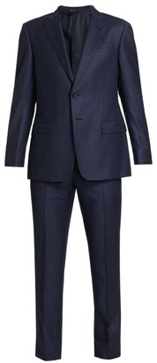 Giorgio Armani Micro Houndstooth Virgin Wool Suit