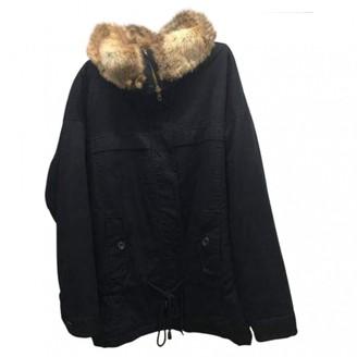 Bel Air Black Rabbit Coat for Women