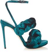 Marco De Vincenzo Velvet high-heel sandals