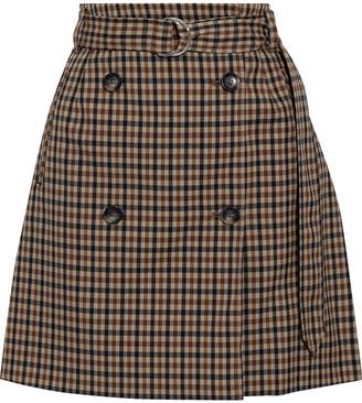 Baum und Pferdgarten Stacia Belted Cotton-blend Mini Wrap Skirt