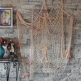 Froomer Nautical Fishing Net Seaside Wall Beach Party Sea Shells Decoration