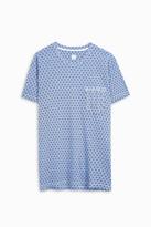 120% Lino Printed Crew Neck T-Shirt