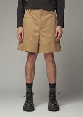 Jil Sander Men's Auriel Drill Short in Light Pastel Brown Size 48 Polyester/Cotton