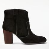 John Lewis Odele Block Heeled Ankle Boots, Black