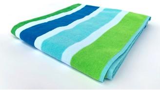 Downland Teal Stripe Beach Towel