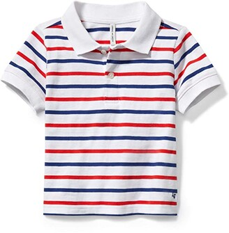 Janie and Jack Stripe Polo (Toddler/Little Kids/Big Kids) (Multi) Boy's Clothing