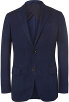 Ermenegildo Zegna Blue Slim-Fit Woven Cotton Blazer