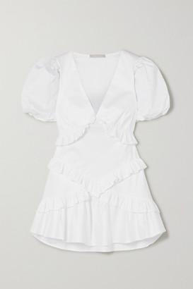 Maggie Marilyn The Jones 2.0 Ruffled Cotton-poplin Mini Dress - White