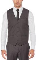 Perry Ellis Regular Fit Solid Sharkskin Suit Vest