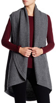 Splendid Duster Knit Shawl Wool Blend Vest
