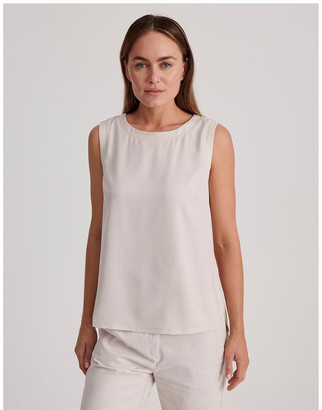 Regatta Sleeveless Woven Front with Knit Back Tank