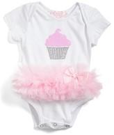Infant Girl's Popatu Cupcake Tutu Skirted Bodysuit