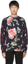 McQ by Alexander McQueen Navy 'Thrift Store Florals' Sweater