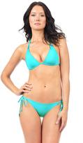 Voda Swim Turquoise Double String Bikini Bottom