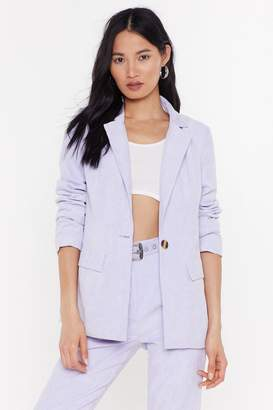 Nasty Gal Womens Girl In The Thunderbolt Suit Jacket - Purple - 6, Purple