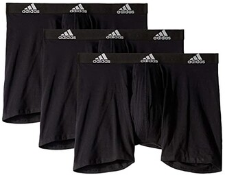 adidas Stretch Cotton Boxer Brief 3-Pack (Onix/Black/Black/Onix Grey/Black) Men's Underwear