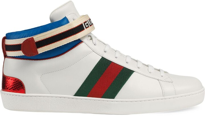 Gucci stripe Ace high-top sneakers