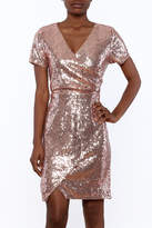 Yumi Sequin Wrap Dress