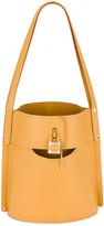 Chloé Aby Embossed Monogram Bucket Bag in Honey Gold | FWRD
