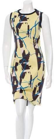 Cédric Charlier Printed Neoprene Dress w/ Tags