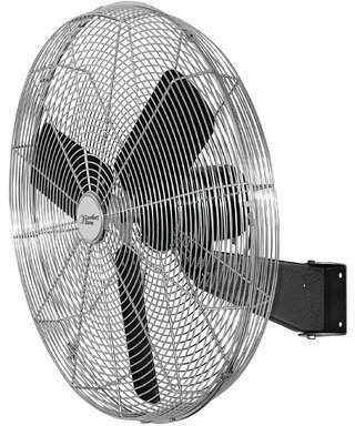"Comfort Zone 30"" Wall Mounted Fan Size: 43.7""H x 33.9""W x 7.5""D, Oscillating: Yes"