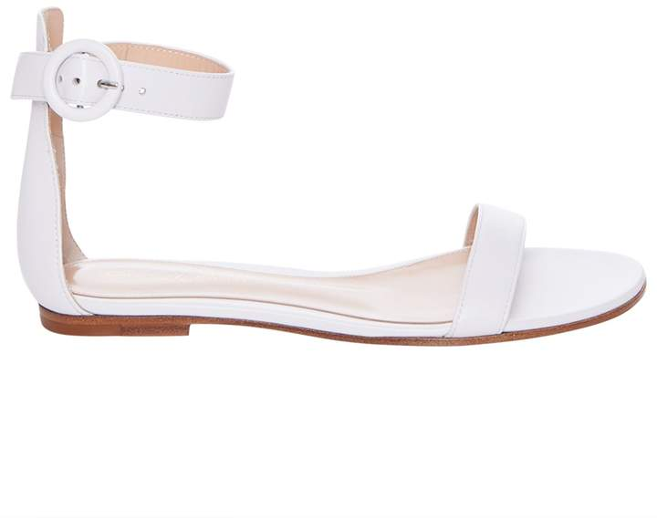 Gianvito Rossi Flat Ankle Strap Sandals