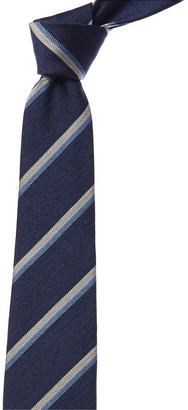 Kiton Blue Stripe Silk Tie