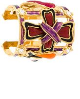 DSQUARED2 cross motif cuff bracelet