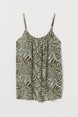 H&M Crinkled strappy top