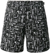 Dolce & Gabbana musical instrument print swim shorts - men - Polyester - IV