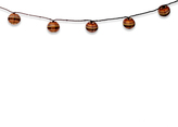Indoor/Outdoor Small Paper Lantern String Lights (Set of 10)
