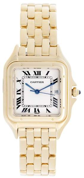 Cartier Panthere W25014B9 18K Yellow Gold Quartz 27mm Mens Watch