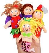 HaiHui Finger Puppet Set 4Pcs Role Play Baby Gift